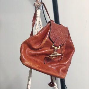 Handbags - Vintage Leather Saddle Backpack